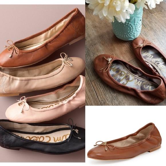155e8896776113 Sam Edelman Felicia Flats Leather in Saddle. M 5ae6384e3a112e670237de43